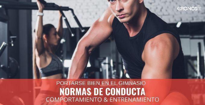 normas de buena conducta en el gimnasio