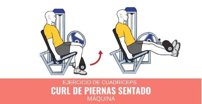 curl de piernas sentado en maquina