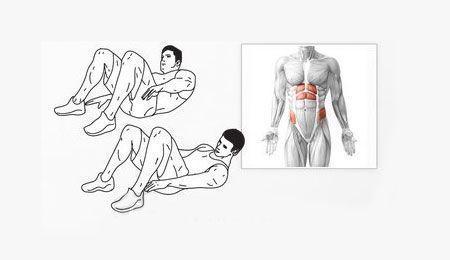 Toque de tobillos. Rutina definitiva de abdominales.