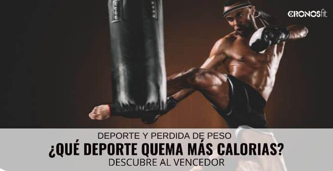 Que deporte quema mas calorias
