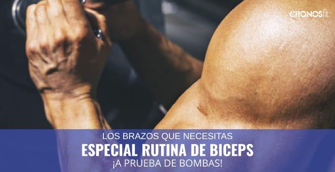 Especial rutina de bíceps