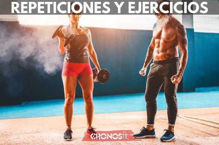 repeticiones y ejercicios