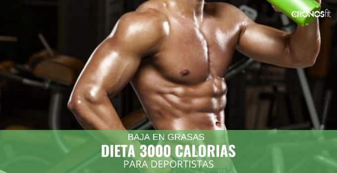 Dieta 3000 Calorías Baja en Grasas